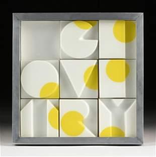 "JOE TILSON (British b. 1928) A PRINT, ""Geometry,"" 1965,"