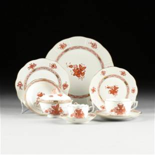 """A ONE HUNDRED PIECE HEREND PORCELAIN """"CHINESE BOUQUET"""""""