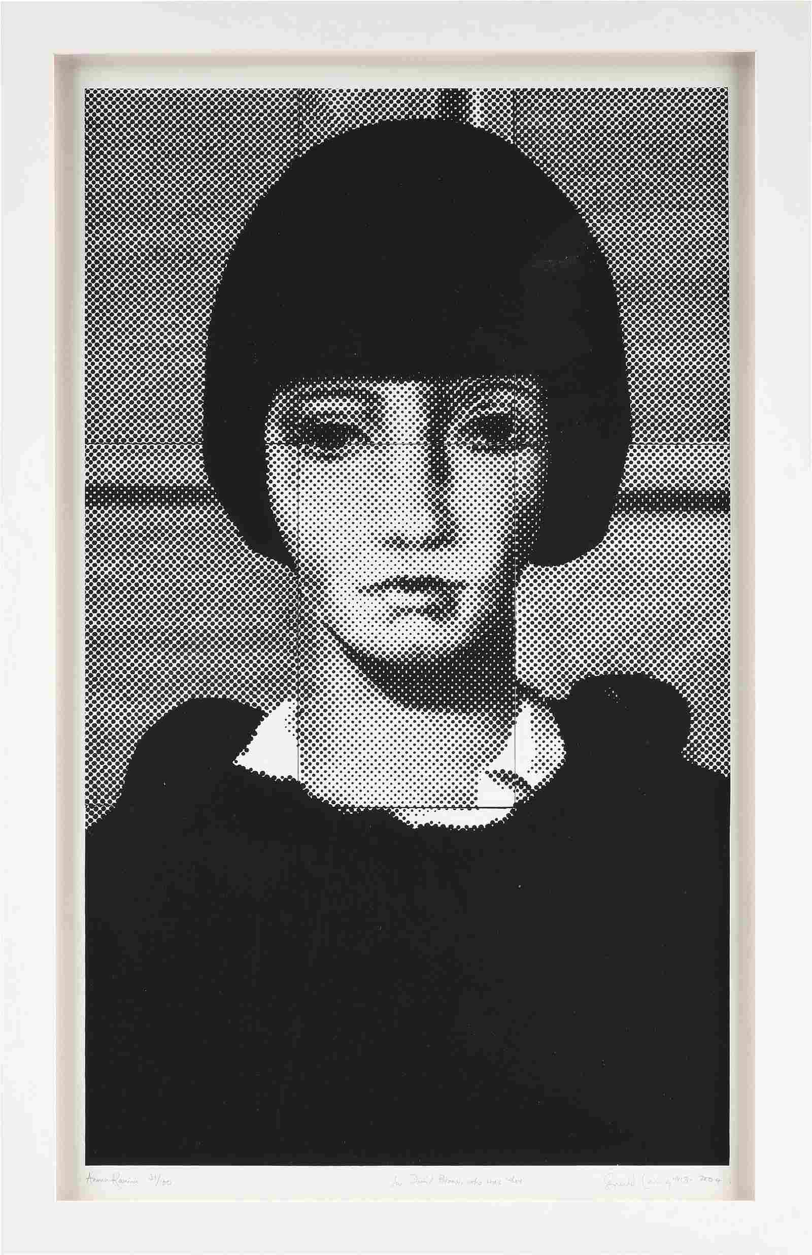 "GERALD LAING (British 1936-2011) A PRINT, ""Anna"