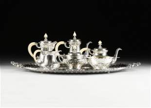 "A SIX PIECE GORHAM ""ATHENIC"" STERLING SILVER TEA/COFFEE"