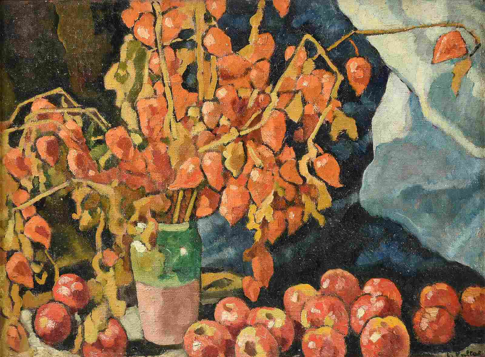 "LOUIS VALTAT (French 1869-1952) A PAINTING, ""Physalis"