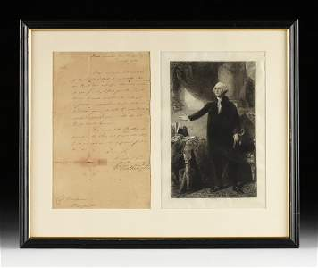 GEORGE WASHINGTON (1732-1799) AS COMMANDER IN CHIEF OF