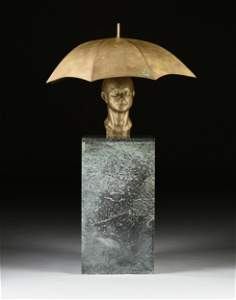"CLIVE BARKER (British b. 1940) A SCULPTURE, ""Portrait"