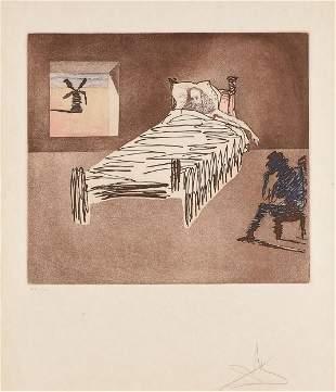 "SALVADOR DALÍ (Spanish 1904-1989) A PRINT, ""Don Quixote"