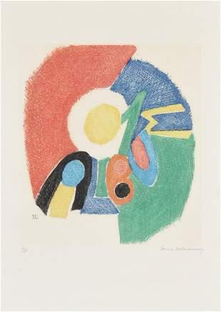 "SONIA DELAUNAY (Ukrainian 1885-1979) A PRINT, ""Le Rythm"