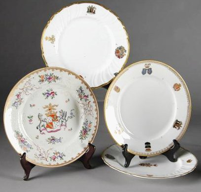 11: A GROUP OF THREE AUSTRIAN SAMPLE PATTERN ARMORIAL P