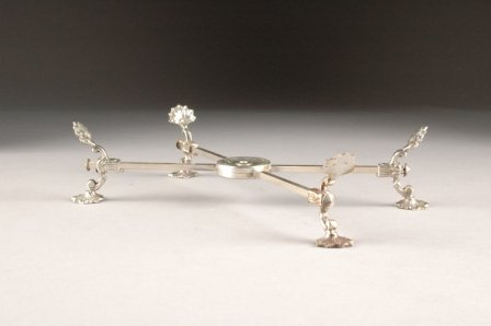 """14: A VICTORIAN SILVER PLATED DISH CROSS,  """"X"""" form and"""