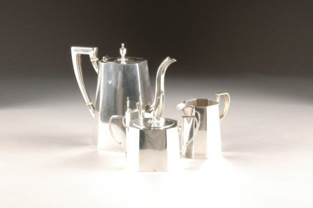 17: A CARTIER STERLING SILVER PARTIAL TEA SERVICE, 8646