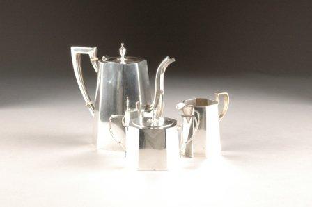 17: A CARTIER STERLING SILVER PARTIAL TEA SERVICE, 8646