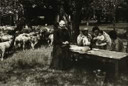 "ÉDOUARD BOUBAT (French 1923-1999) A PHOTOGRAPH, ""Priest"