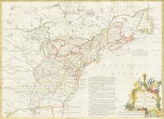 """A GEORGE II FRENCH AND INDIAN WAR PERIOD MAP, """"A Map of"""