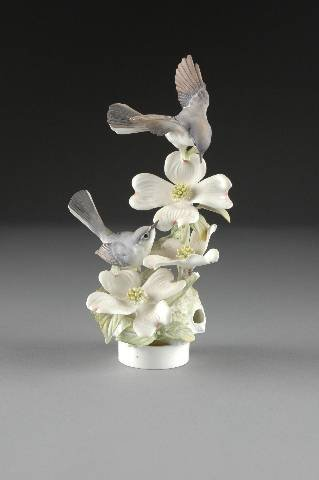 18: A ROYAL WORCESTER GROUP OF BLUE GRAY GNATCATCHERS,