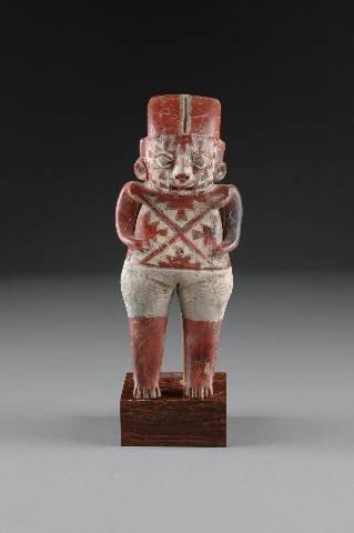 150: A PRE-COLUMBIAN CHUPICUARO FEMALE STANDING FIGURE,
