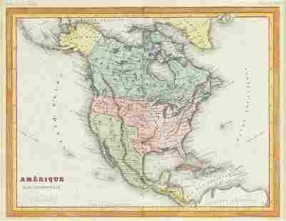 """A REPUBLIC OF TEXAS MAP, """"Amérique Septentrionale,"""""""