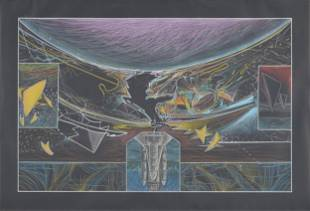 "ARTHUR TURNER (American/Texas b. 1940) A DRAWING, ""NASA"