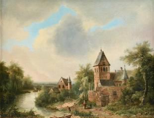 JOHANNES MAURISZ JANSEN (Dutch 1812-1857) A PAINTING,