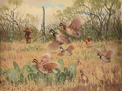 """LEE LEBLANC (American 1913-1988) A PAINTING, """"Hunt for"""