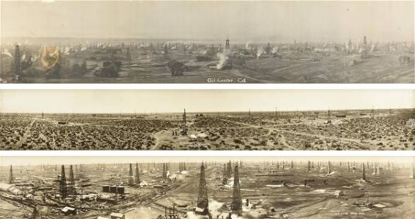 AMERICAN SCHOOL, A GROUP OF FOUR OIL FIELD PHOTOGRAPHS,