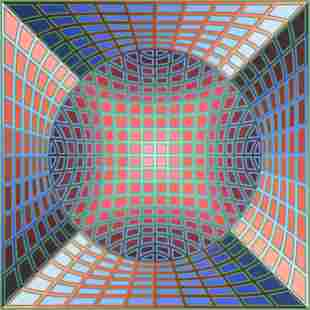VICTOR VASARELY (Hungarian 1906-1997) A PRINT,