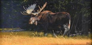 "AL AGNEW (American b. 1952) A PAINTING, ""Moose in"