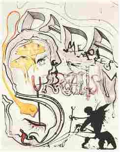 "SALVADOR DALI (Spanish 1904-1989) A PRINT, ""Angel of"