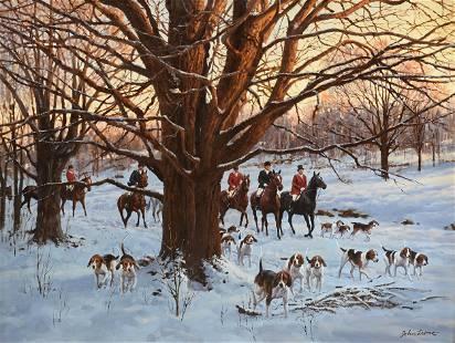 "JOHN LEONE (American 1929-2011) A PAINTING, ""Winter"