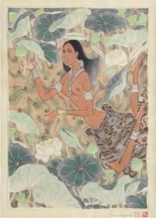 ATTINGAL RAMACHANDRAN (Indian b. 1935) A PAINTING,