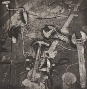 "JIM DINE (American b. 1935) A PRINT, ""The Tools,"" 2001,"
