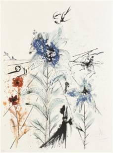 "SALVADOR DALI (Spanish 1904-1989) A PRINT, ""Flower"