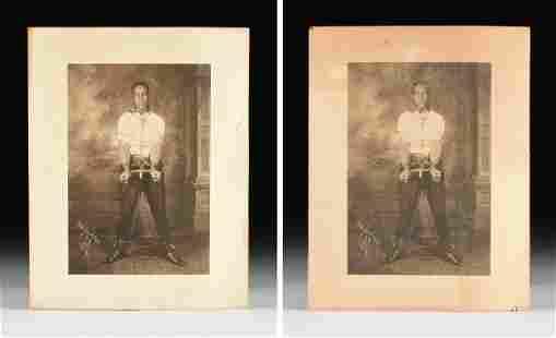 JAMES VAN DER ZEE (American 1886-1983) TWO PHOTOGRAPHS,