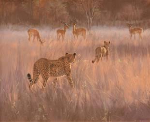 "KIM DONALDSON (Zimbabwean b. 1952) A DRAWING, ""Impalas"