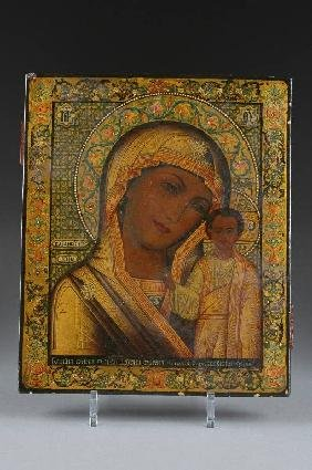 20: A RUSSIAN ICON OF THE MOTHER OF GOD OF KAZAN, SECON