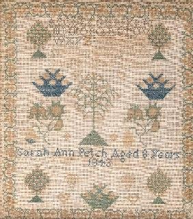 22: AN EARLY AMERICAN CHILD'S SAMPLER, by Sarah Ann Pet