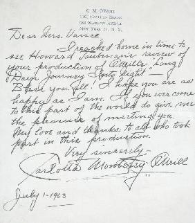 23: CHARLOTTA MONTEREY O'NEILL (1888-1970) actress and