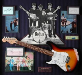 """276: THE BEATLES """"THE FAB FOUR"""" MULTI ITEM COLLAGE: pho"""