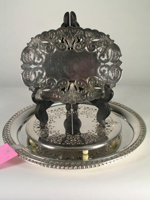 10: A silver plated trivet by Wallace, and a similar si