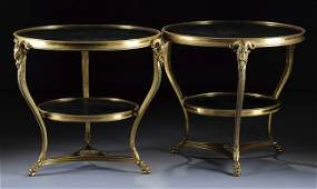 235 A PAIR OF FRENCH NEOCLASSICAL STYLE GILT BRONZE GR