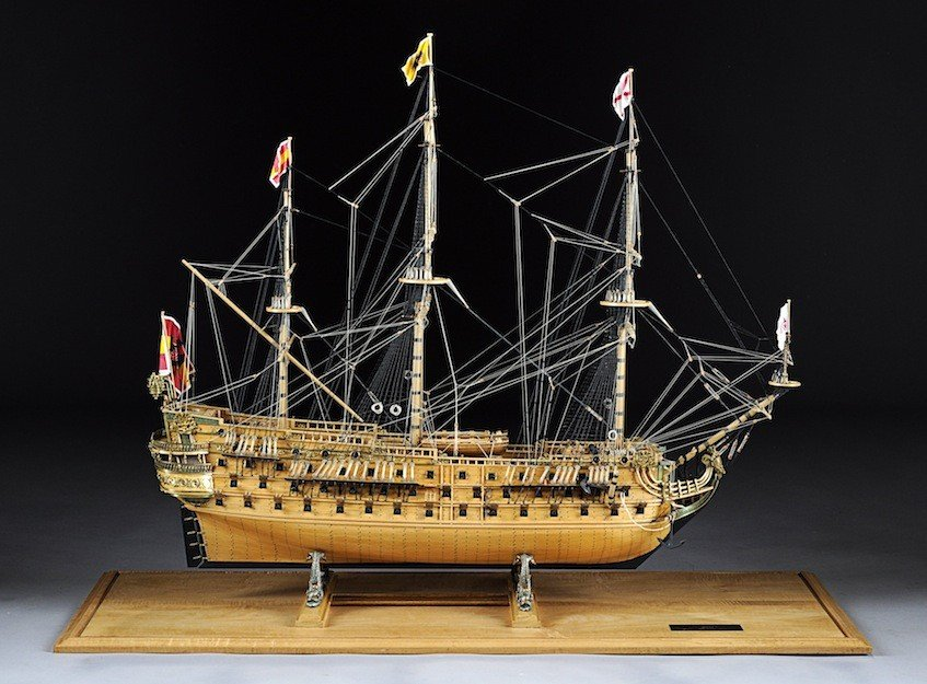 10: SCALE MODEL OF THE SAN FELIPE, LARGEST OF SPAIN'S F