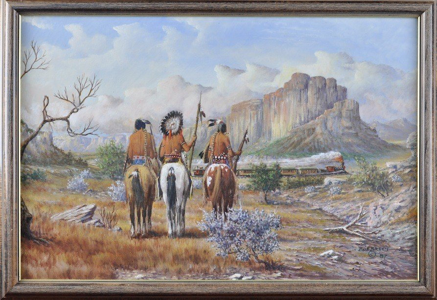 """120: BUD BREEN (American/Texas 1927-2005) A PAINTING, """" - 2"""