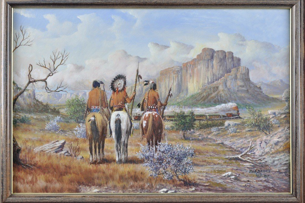 """120: BUD BREEN (American/Texas 1927-2005) A PAINTING, """" - 3"""