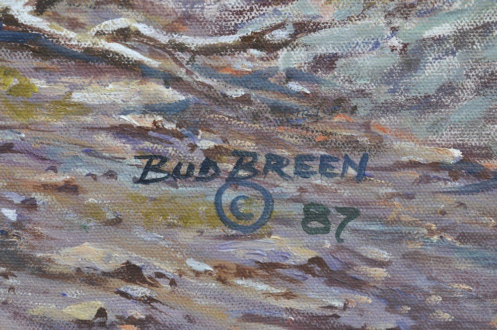 """120: BUD BREEN (American/Texas 1927-2005) A PAINTING, """" - 6"""