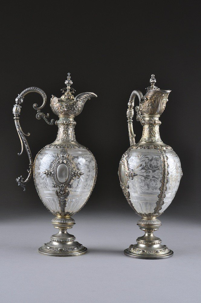 324: A PAIR OF GERMAN RENAISSANCE STYLE SILVER GILT AND