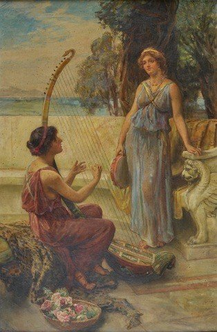 5: FRANCIS SYDNEY MUSCHAMP (British 1851-1929) A PAINTI