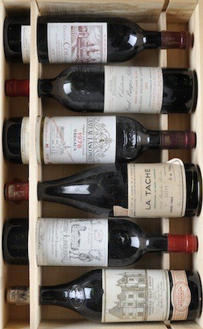 9: SIX BOTTLES OF VINTAGE FRENCH WINES COMPRISING: a 19