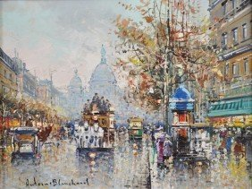 """ANTOINE BLANCHARD (French 1910-1988) A PAINTING, """"S"""