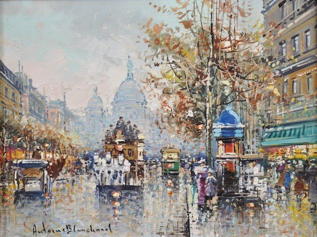 """14: ANTOINE BLANCHARD (French 1910-1988) A PAINTING, """"S"""
