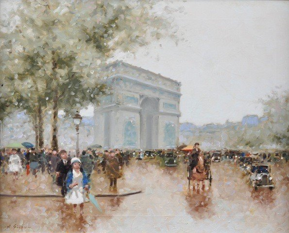 """18: ANDRE GISSON (French 1921-2003) A PAINTING, """"Arc de"""
