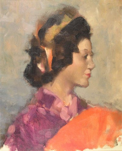 "3: AMERICAN SCHOOL (20th Century) A painting, ""Portrait"