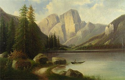 """9: ENGLISH SCHOOL (19th Century) A painting, """"Mountain"""