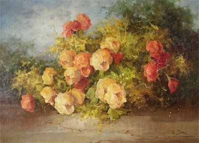 """10: A. DONI (Italian 20th Century) A painting, """"Florit,"""